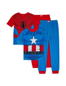 4 Pc. Pajama Set Boys by Marvel