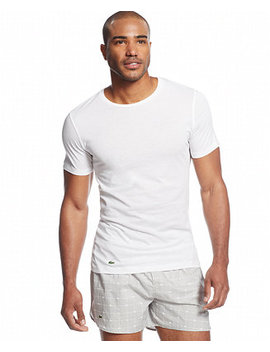 Men's 3 Pack Crew Neck Undershirts by Lacoste