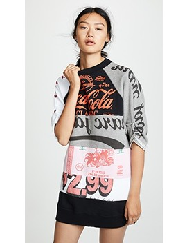 Colorblock Graphic Sweatshirt Dress by Marc Jacobs
