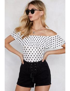 Dot In The Act Off The Shoulder Top by Nasty Gal