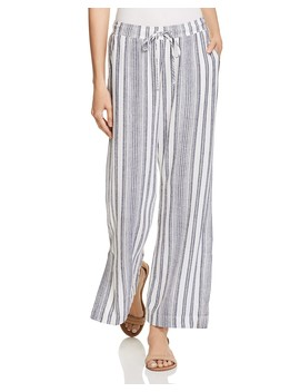 Slit Wide Leg Stripe Pants by Bella Dahl