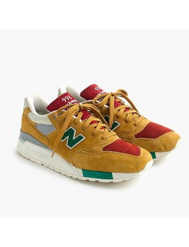 New Balance® For J.Crew 998 Mustard X Ketchup X Relish Sneakers by New Balance