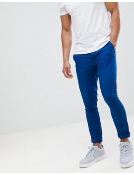 Asos Design Super Skinny Chinos In Royal Blue by Asos Design