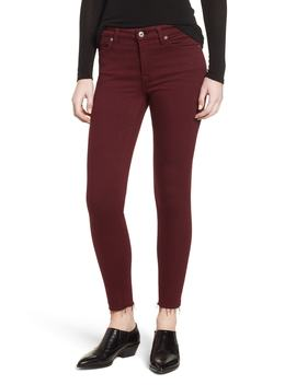 Cutoff Hem Ankle Skinny Jeans by 7 For All Mankind®