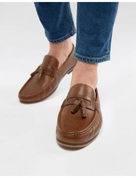 Asos Design Tassel Loafers In Tan Leather With Natural Sole by Asos Design