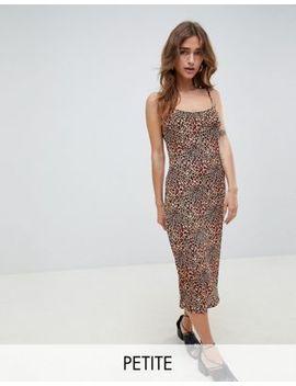 glamorous-petite-midi-cami-dress-in-leopard-print by glamorous-petite