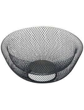 Nifty 7540 Blk Double Wall Mesh Decorative And Fruit Bowl, 3.5 Quart/10, Black by Nifty