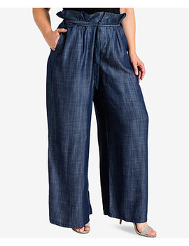 Trendy Plus Size Wide Leg Trousers by Standards And Practices