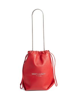 Teddy Leather Bucket Bag by Saint Laurent