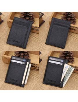 Mens Wallet Money Clip Credit Card Holder Id Business Genuine Leather Mini Purse by Unbranded/Generic
