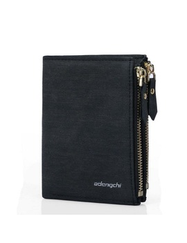 Men's Leather Billfold Id Card Holder Pocket Zipper Purse Coin Wallet Clutch by Unbranded/Generic