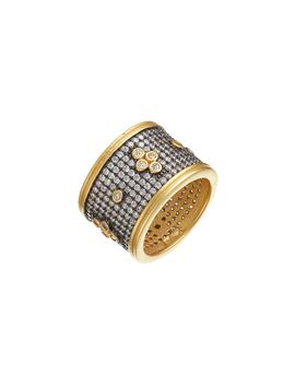 Clover Wide Band Ring by Freida Rothman