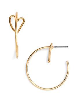 Mini Heart Hoop Earrings by Rebecca Minkoff