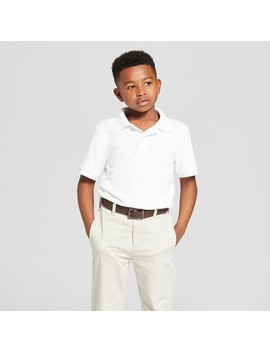 Boys' Short Sleeve Interlock Uniform Polo Shirt   Cat & Jack™ by Cat & Jack™