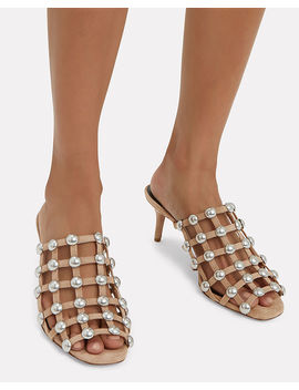 Sofia Low Heel Cage Sandals by Alexander Wang