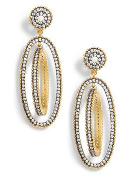 Rotating Orbit Drop Earrings by Freida Rothman
