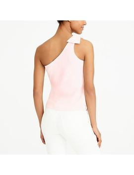One Shoulder Bow Tank Top by J.Crew