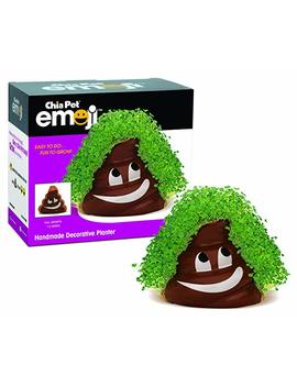 Chia Pet Emoji Poopy Decorative Pottery Planter, Easy To Do And Fun To Grow, Novelty Gift, Perfect For Any Occasion (Contains Packets For 3 Plantings) by Chia
