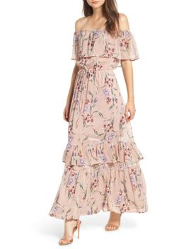 Off The Shoulder Maxi Dress by Love, Fire