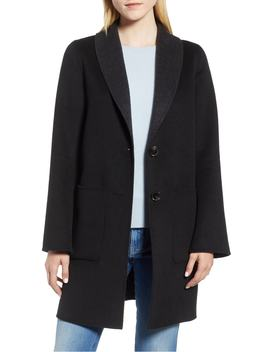 Jenn Double Face Wool Blend Reversible Coat by Tahari