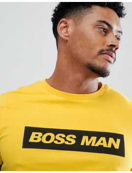 Asos Design T Shirt With Boss Man Slogan Print by Asos Design