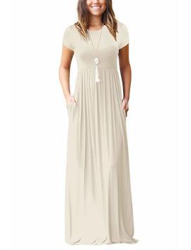Dasbayla Women's Casual Long/Short Sleeve Maxi Dress With Pockets by Amazon