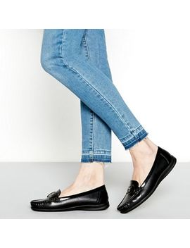 Good For The Sole   Black Faux Leather Buckle 'gone' Wide Fit Loafers by Good For The Sole