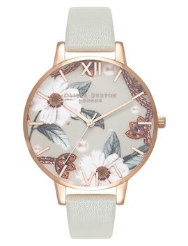 Bejewelled Leather Strap Watch, 38mm by Olivia Burton