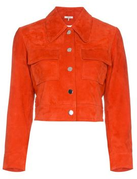 Salvia Suede Leather Jacket by Ganni