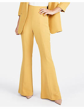 Super High Waisted Soft Twill Flare Pant by Express