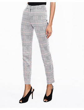 Mid Rise Houndstooth Plaid Skinny Pant by Express