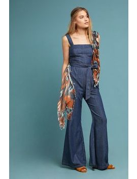 Pilcro Waist Tied Denim Jumpsuit by Pilcro And The Letterpress