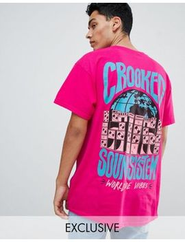 Crooked Tongues Oversized T Shirt With Sound System Print by Crooked Tongues