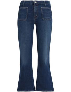 Cropped High Rise Kick Flare Jeans by Mother