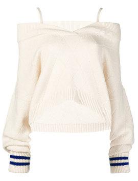 Cold Shoulder Elongated Sleeve Sweater by Maison Margiela