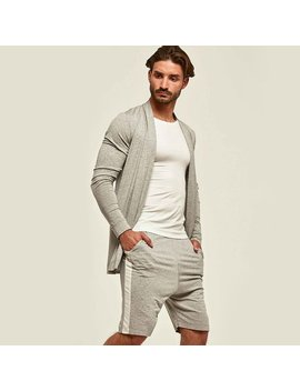 Orttu Sporter Mens  Cardigan   Summer Sale   Thin Stretchy Jersey Kimono With Long Sleeves   Award Winning Designer Clothing   Gray by Etsy