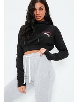 Black Honey Hooded Sweatshirt by Missguided