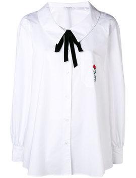 Tie Neck Embroidered Pocket Shirt by Vivetta