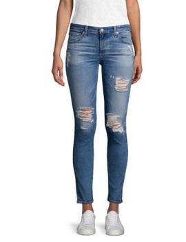 Distressed Super Skinny Legging Ankle Jeans by Ag