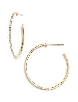 Medium Diamond Hoop Earrings by Bony Levy