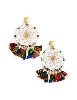 Dream Catcher Drop Earrings by Gas Bijoux