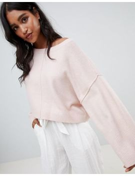 Micha Lounge Oversized Cropped Jumper by Micha Lounge
