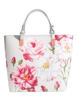 Adjustable Handle Leather Tote by Ted Baker London