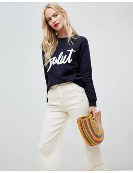 Whistles Salut Applique Sweatshirt by Whistles