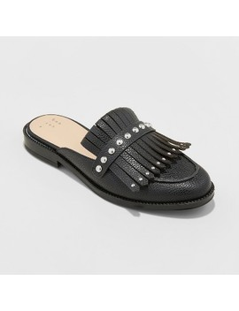 Women's Karoline Backless Loafer Mules   A New Day™ Black by A New Day™
