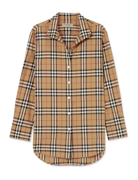 Checked Cotton Poplin Shirt by Burberry
