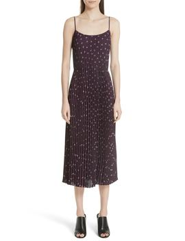 Ditsy Bouquet Print Pleated Camisole Dress by Vince