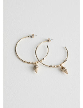 Seashell Pendant Hoops by & Other Stories