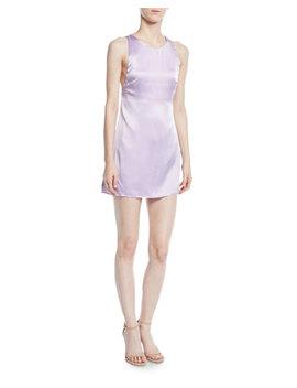 The Ximena Silk Mini Slip Dress W/ Crisscross Back by Fame And Partners