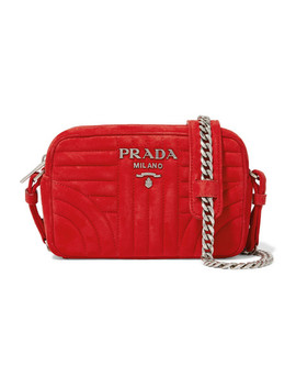 Quilted Suede Camera Bag by Prada